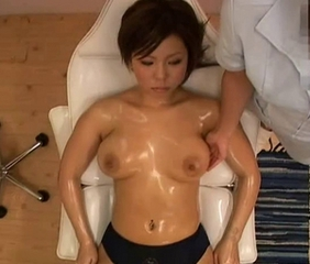 Big Tits Japanese Massage Oiled Panty