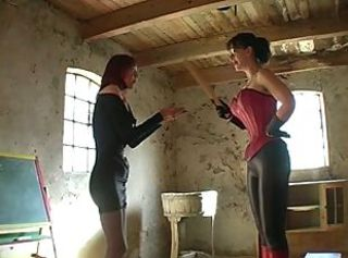 Glasses Latex Lesbian Old and Young