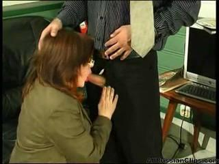 Blowjob Mature Office Russian Secretary