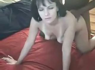 Amateur Brunette Cute Doggystyle Interracial