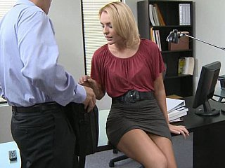 Babe Blonde Office