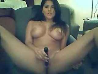 Cute brunete on webcam