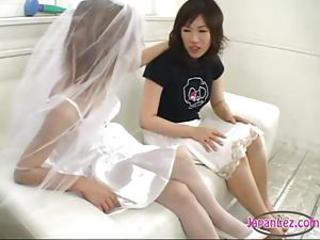 Busty Asian Girl Kissing Getting Her Nipples Sucked Pussy Stimulated With Vibrator Fisted By A Girl In Wedding Dress On The Couch by sotegune Sex Tubes