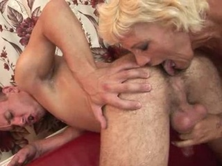 Blonde Handjob Licking