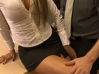 Blonde Cute  Office