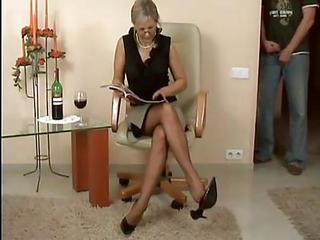 Drunk Glasses Mature Mom Old and Young Stockings