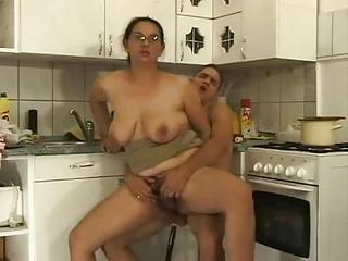 Mature Ass Fuck In The Kitchen W...
