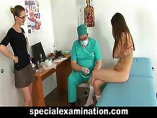 Busty Teen Girl Visits Gynecologist