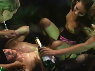 Brilliant Orgy With Hot Babes And Their Dirty Needs In A Strip Club