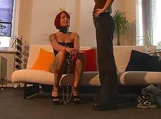 Two sexy German girls fool around with some bondage including handc...