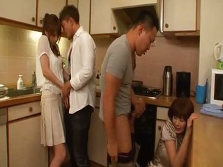 Asian Daughter Family Groupsex Japanese Kitchen Mom