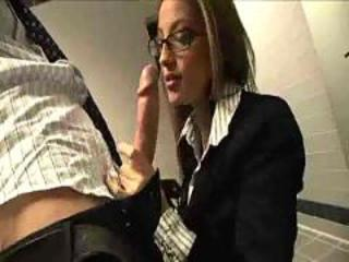 Babe  Blowjob Glasses Office Secretary