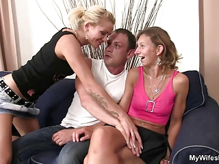 Daughter watches hubby fuck her