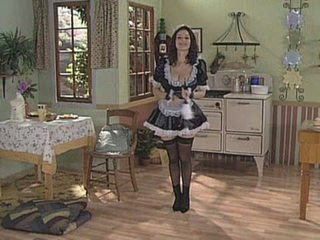 Amazing Big Tits European French Maid  Stockings Uniform