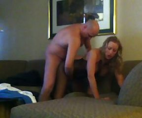 Blonde wife fucked in Vegas hotel room. Mesh body suit.