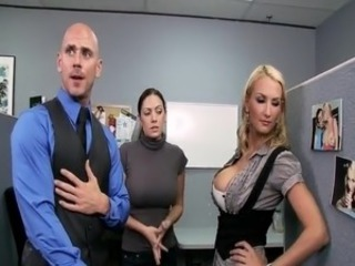 Blake Rose hard Anal fuck in the office