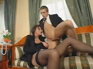 Blowjob Mature Old and Young Stockings