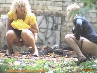 Outdoor Urinate Woman Spy