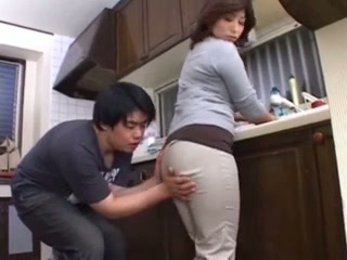 Asian Ass Japanese Kitchen  Mom Old and Young