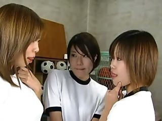 Asian Japanese Kissing Lesbian Sport Teen Uniform