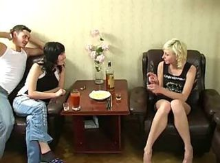 Wild Russian Teen Foursome