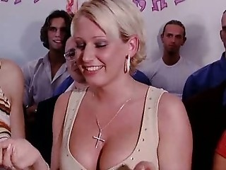 Babe Blonde Gangbang Party