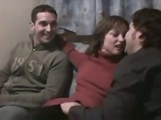 Spain fit together threesome with hubbys fellow-worker cuckold