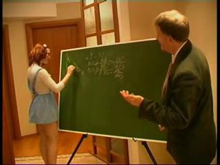 Old and Young Redhead Skirt Teacher Teen