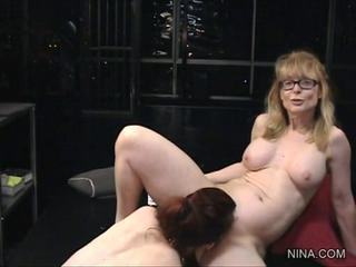 Nina Hartley gets her dripping slit licked clean