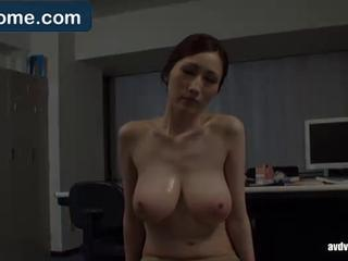 Asian Big Tits  Natural Office