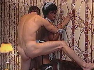 Anal Doggystyle Ebony Interracial Maid Vintage