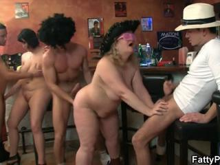 Chubby Groupsex Mature Old and Young Party