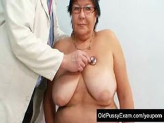 Busty Doyenne Woman Gyn Clinic Exam
