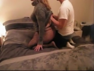 cheating wife fucking young lover while husband is a work free
