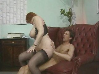 Big Tits Chubby Mature Riding Stockings
