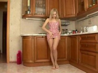 Babe Kitchen Stripper Teen