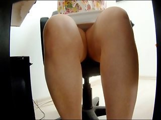 Upskirt under desk
