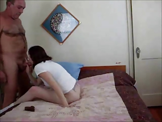gorgeous redhead creampied by old guy