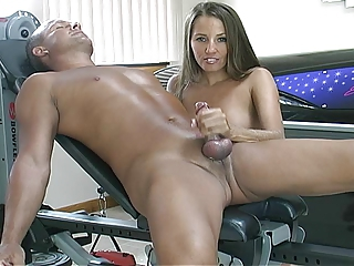 handjob in the gym
