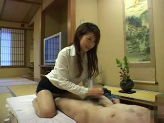 Asian Handjob Japanese Massage Pantyhose Small cock
