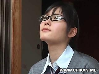 Asian Glasses Student Teen Uniform