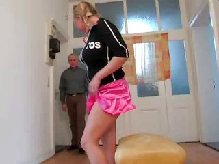 Amateur Old and Young Skirt Teen