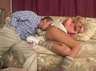 Babysitter Blonde Sleeping Teen