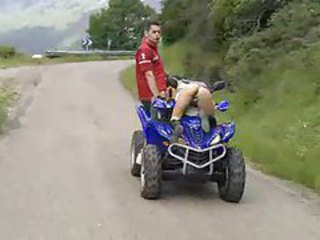 Girl fucked on a moving ATV tubes