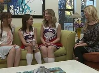 Cheerleader Lesbienne Tiener Uniform