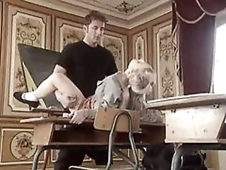 Student Fucked wide of Teacher on Classroom Table wide of snahbrandy