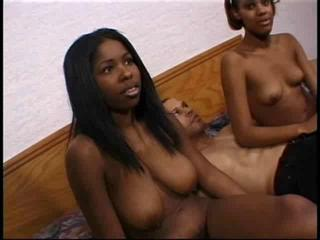 Amateur Ebony Interracial  Teen Threesome
