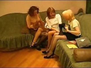 Horny milfs pet, lick and caress their fleshy holes.