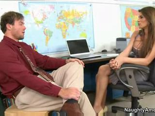Amazing  Office Pornstar