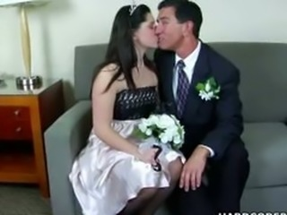 Bride Kissing Teen